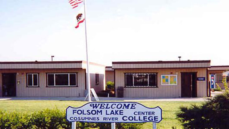 Portable buildings at Folsom Lake Center in 1993
