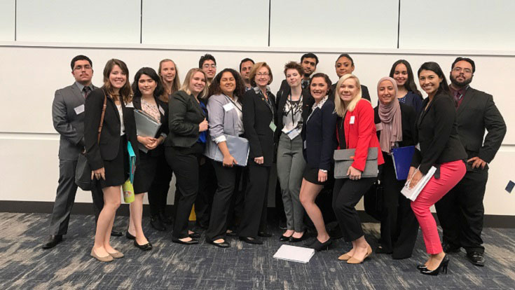 American River College's Model United Nations club members dressed in professional attire